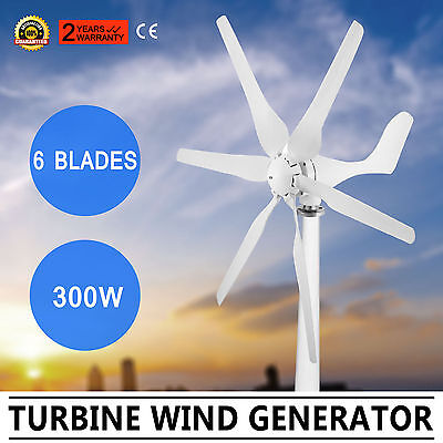 Wind Turbine Generator 300W Dc12V Green Windmill Wind Energy Steadily Excellent