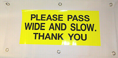 Horse Driving Carriage Road Safety Banner for Rear of Vehicle Hi Vis or Plain