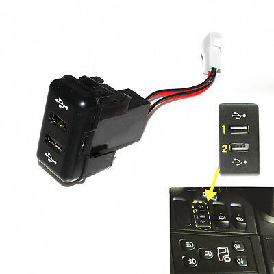 Volvo Fh12 Fh In Dash Dashboard Panel Dual Usb Port Charger Power Outlet Truck