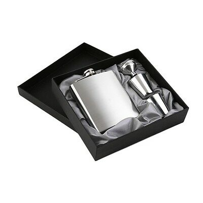 7oz Stainless Steel Pocket Hip Flask Funnel Cups Set Drink Bottle Gift New XP