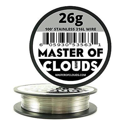 100 Ft. 26 Gauge AWG Stainless Steel Resistance Wire 0.40 mm 26g 100'Vape RDA ✔