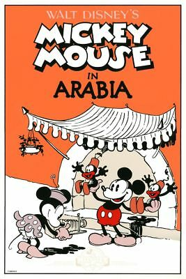 Affiche Sérigraphie Mickey Mouse Mickey Mouse In Arabia, Disney