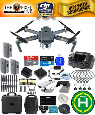 DJI Mavic Pro Fly More Combo PRO ALL YOU NEED ACCESSORY KIT with Waterproof Case