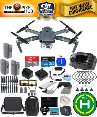 DJI Mavic Pro Fly More Combo PRO ALL YOU NEED ACCESSORY BUNDLE with Carr Case