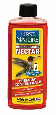 First Nature 3056 Red Hummingbird Nectar, 4 Oz Concentrate Makes 16 Oz of Feed