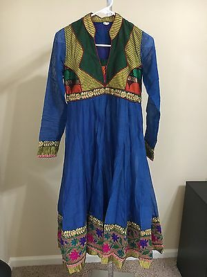 Indian Pakistan Bollywood Kurta Kurti Women CHFFON Designer Dress Top US size 32