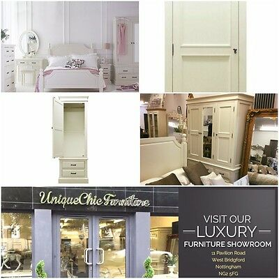 WARDROBE French Style Bedroom Furniture Ivory Single Wardrobe Armoire Drawers
