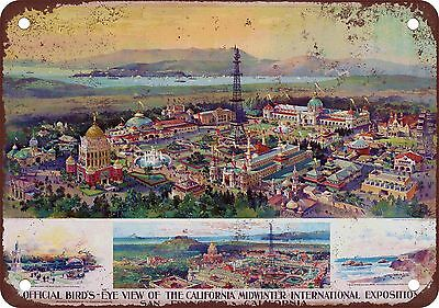 "7"" x 10"" Metal Sign - 1896 San Francisco Exposition - Vintage Look Reproduction"