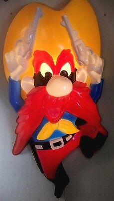 Yosemite Sam Lighted Wall Sculpture, HeadLites Collectibles WORK PLASTIC