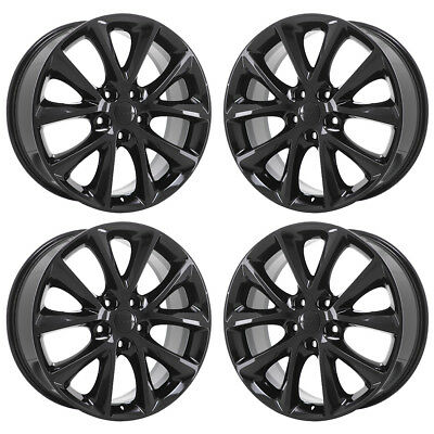 20 Gmc Canyon Colorado Black Wheels Rims Factory Oem 2016 2017 2018