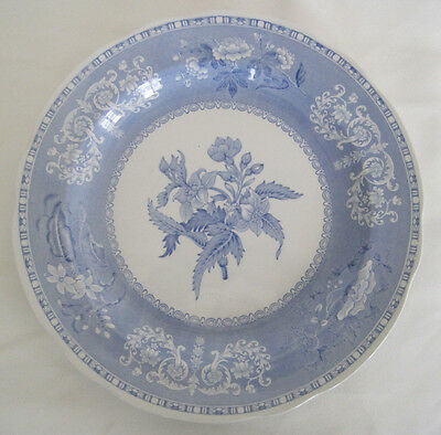 Lot of 4 SPODE CAMILLA BLUE Dinner Plates New Black Backstamp Scalloped S3450-AO