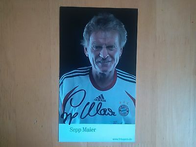 Sepp Maier Signed Bayern Munich Club Card * UK Delivery Only *