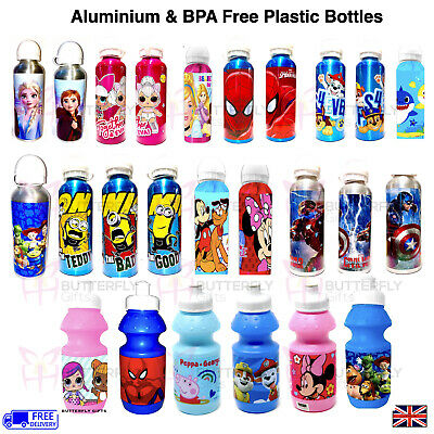 Kids Characters Water Drinks Juice Childrens School Picnic Sports Drinks Bottle