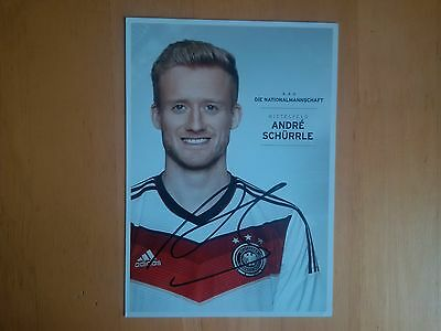 Andre Schurrle Signed Germany PR Card * UK Delivery Only *