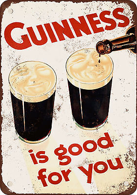 "7"" x 10"" Metal Sign - 1929 Guiness is Good for You - Vintage Look Reproduction"