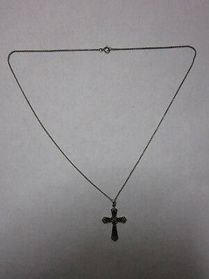 silver  chain and cross religious