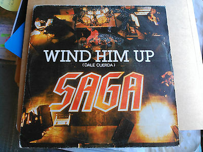 Single Saga - Wind Him Up (Dale Cuerda) - Polydor Spain 1981 Vg