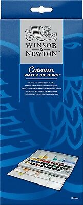 (Studio Set) - Winsor & Newton Cotman Half Pan Water Colour Studio Set