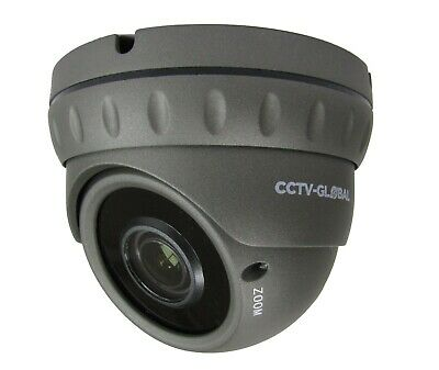 5MP TVI AHD HD CCTV SURVEILLANCE GREY DOME CAMERA SONY CMOS 2.8-12mm LENS 30m IR