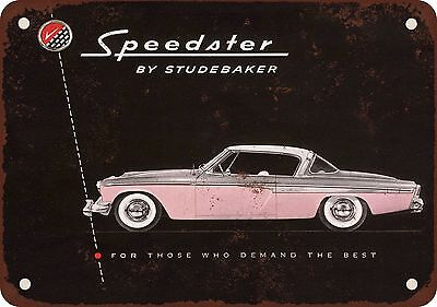 "7"" x 10"" Metal Sign - 1955 Studebaker Speedster - Vintage Look Reproduction"