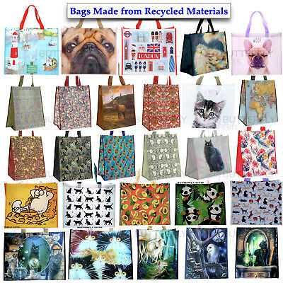 Large Reusable Shopping Bags Womens Ladies Gym Travel Tote Shoulder Washable Bag