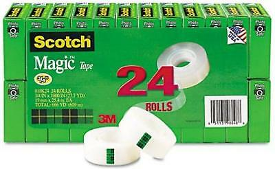 Scotch Magic Tape 3/4 x 1000 Inches Boxed 24 Rolls (810K24) Standard Packaging