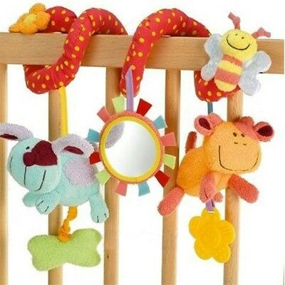 Animal Handbells Developmental Toy Bed Bells Rattle Soft Toys For Baby Kids Gift