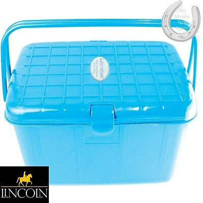 Lincoln Easi Step & Carry Tack Box – LIGHT BLUE – Mounting Step/Carry Grooming K
