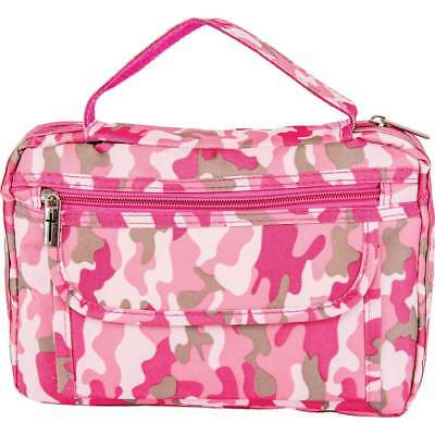 New PINK CAMO BIBLE COVER Protective Ladies Camouflage Holy Book Tote Carry Case