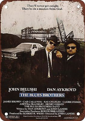 "7"" x 10"" Metal Sign - 1980 The Blues Brothers - Vintage Look Reproduction"