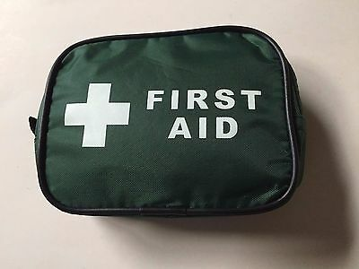 Basic Overseas Foreign Medical Travel  First Aid Kit - Green Bag With Belt Loop
