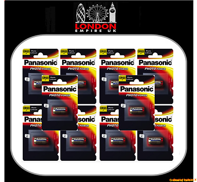 10 x Panasonic Camera CR123A 3V Lithium Photo Battery 123 CR123 DL123 CR17345