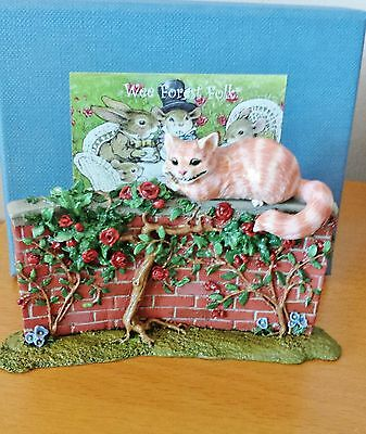 "Wee Forest Folk AIW-06 ""The Cheshire Cat"" ALICE IN WONDERLAND LIMTD EDITION Mint"