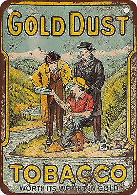 "7"" x 10"" Metal Sign - Gold Dust Tobacco - Vintage Look Reproduction"