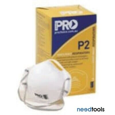 MASK Dust P2 Disposable Respirator Dust Mask, No Valve (Box of 20) PC305