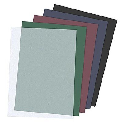 TruBind 8-1/2 x 11 Inches 12 Mil Sand Texture Polycovers - Pack of 100, Black...