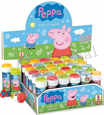 Peppa Pig Bubbles Bubble Tubs Childrens Party Bag Filler Kids Fun Toy Birthday
