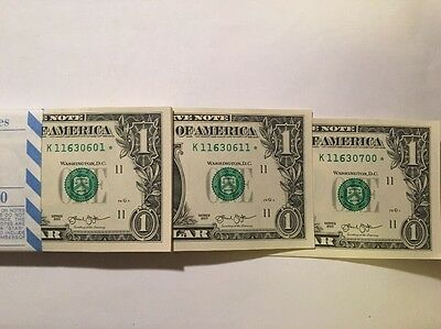 2013 Bep Pack Of 100 $1 Star Notes Dallas District (Error Notes Look)