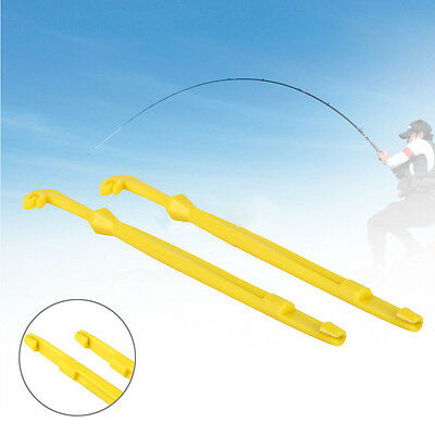 2pcs Yellow Plastic Hook Remover Loop Tyer Disgorger Practical Fishing Parts
