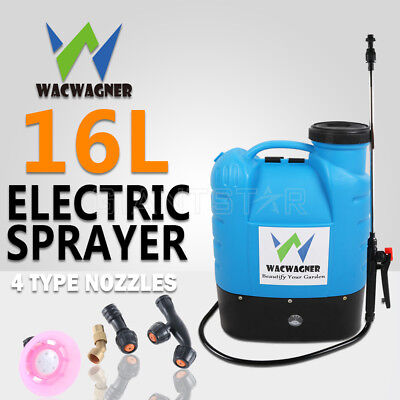 WACWAGNER 16L Electric Weed Sprayer Spray Rechargeable Backpack Farm Garden Pump