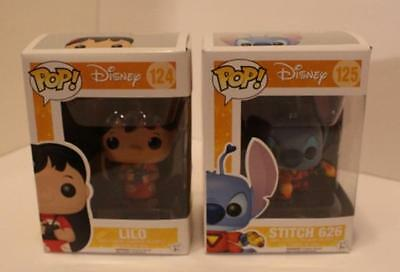 Lilo & Stitch Funko Pop Vinyl Figure Lot Of Two Figures 124 & 125 - Disney