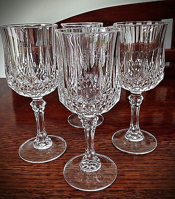 Vintage Beautiful Set of 4 Crystal Wine Glasses