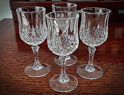 Vintage Beautiful Set of 4 Crystal Cordial Glasses - Height 4 1/2""