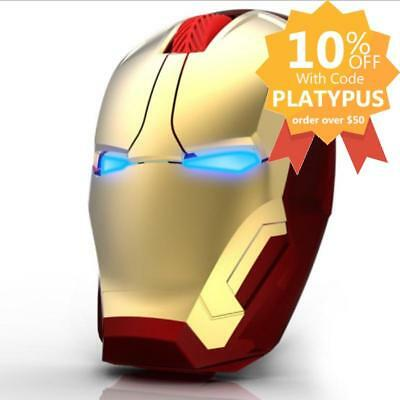 Iron Man Wireless USB Mice Ironman LED Mouse 4D 1600DPI Adjustable with Receiver