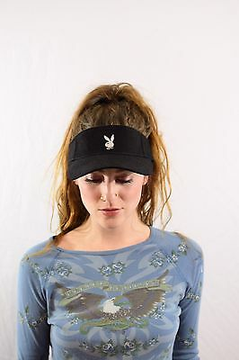 Vintage Playboy Visor Hat Cap 90s club kid festival Deadstock new with tags