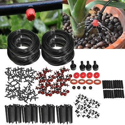 92m Dripper DIY Plant Self Watering Garden Hose Micro Drip Irrigation System Kit