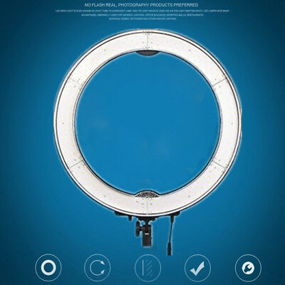 """18"""" LED 55W Photography Diva Ring Light Dimmable 5500K Lighting Photo Video"""
