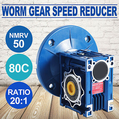 MRV050 Worm Gear 20:1 80C Speed Reducer Industrial Motor 1.14HP 1750RPM