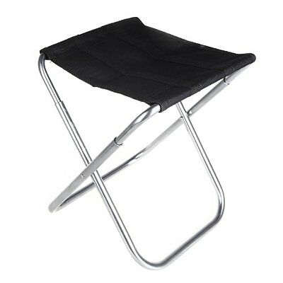 Portable Folding Aluminum Oxford Cloth Chair Outdoor Patio Fishing Camping P1Z9