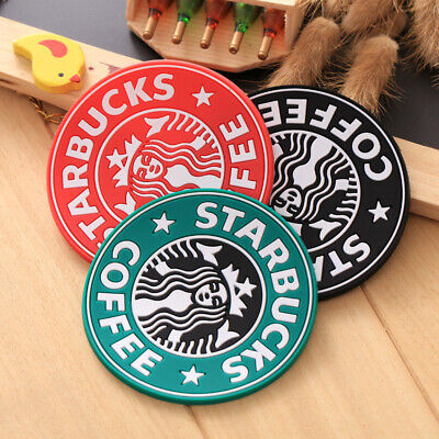 NEW Starbucks Round Cork Coasters Drink Placemats Coffee Wine Cup Mat Tea Craft